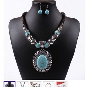 Jewelry - Fashion Turquoise Jewelry Set 2019
